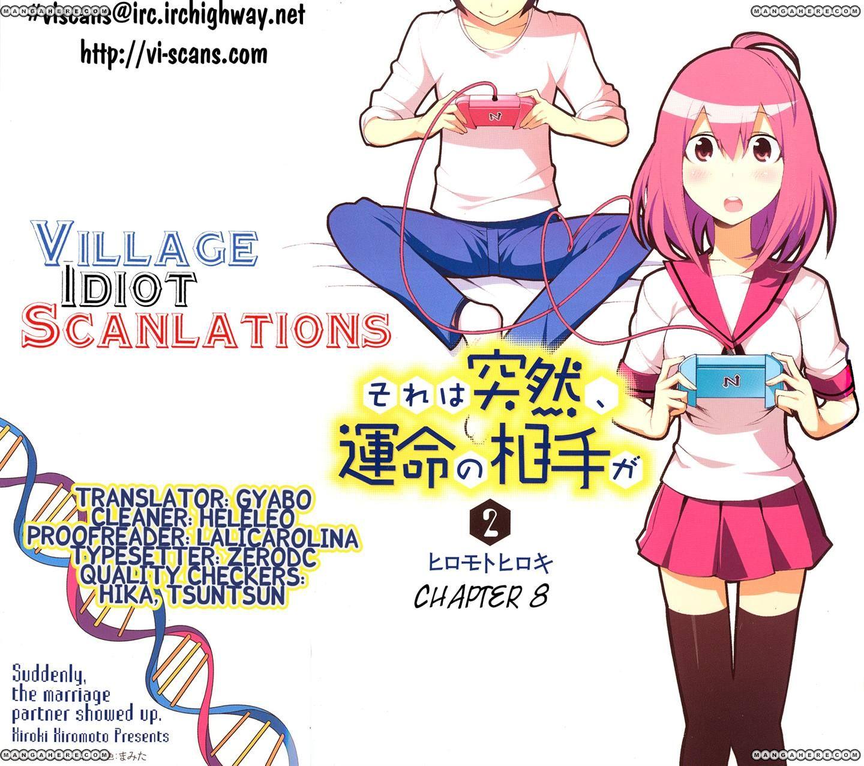 Sore wa Totsuzen, Unmei no Aite ga 8 Page 1