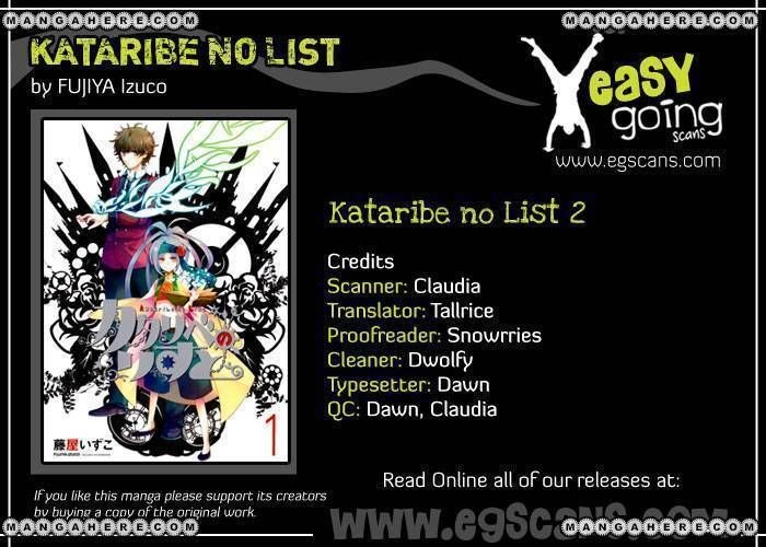 Kataribe No List 2 Page 1