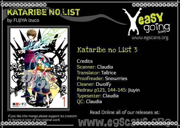 Kataribe No List 3 Page 1