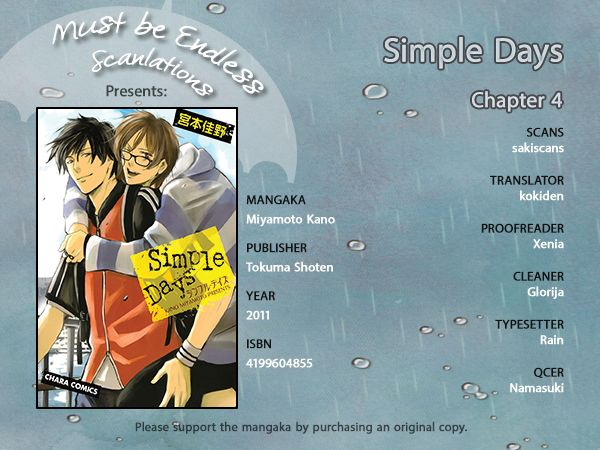 SIMPLE DAYS - Chapter 4 - 1