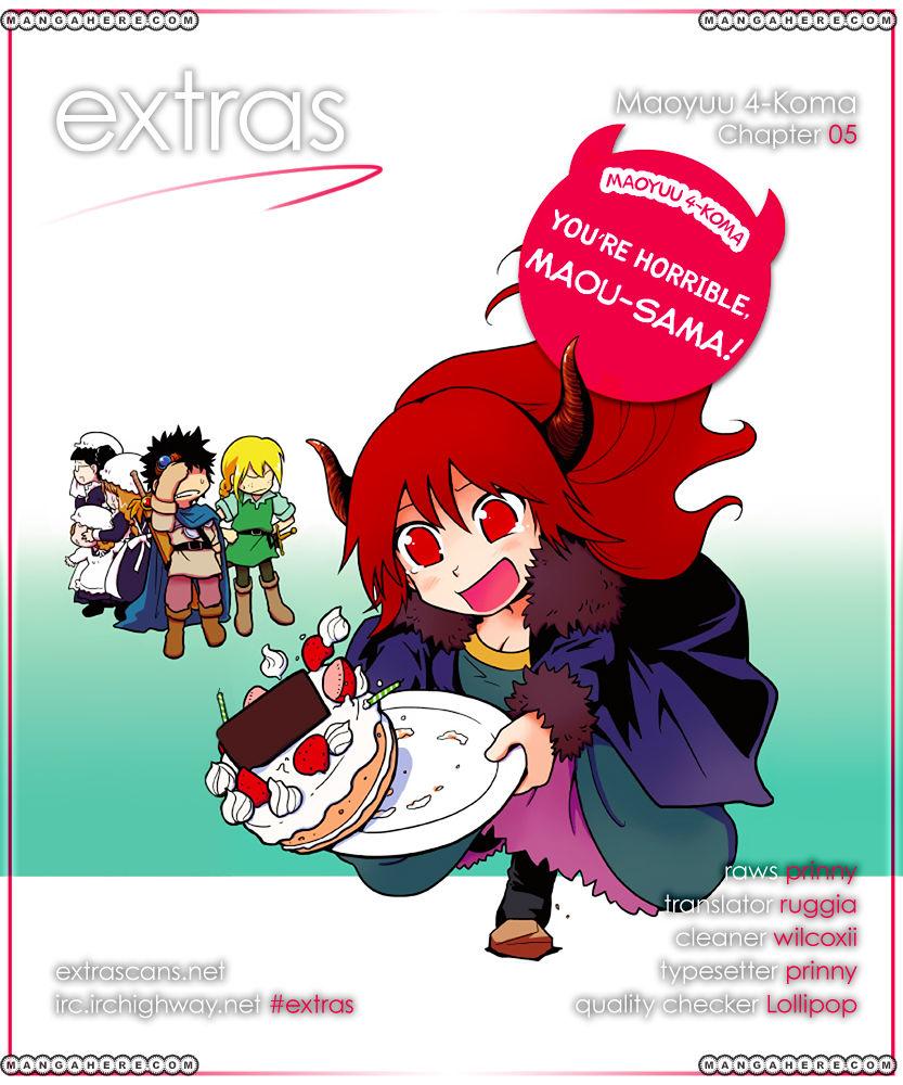 Maoyuu 4-Koma: You're Horrible, Maou-sama! 5 Page 1
