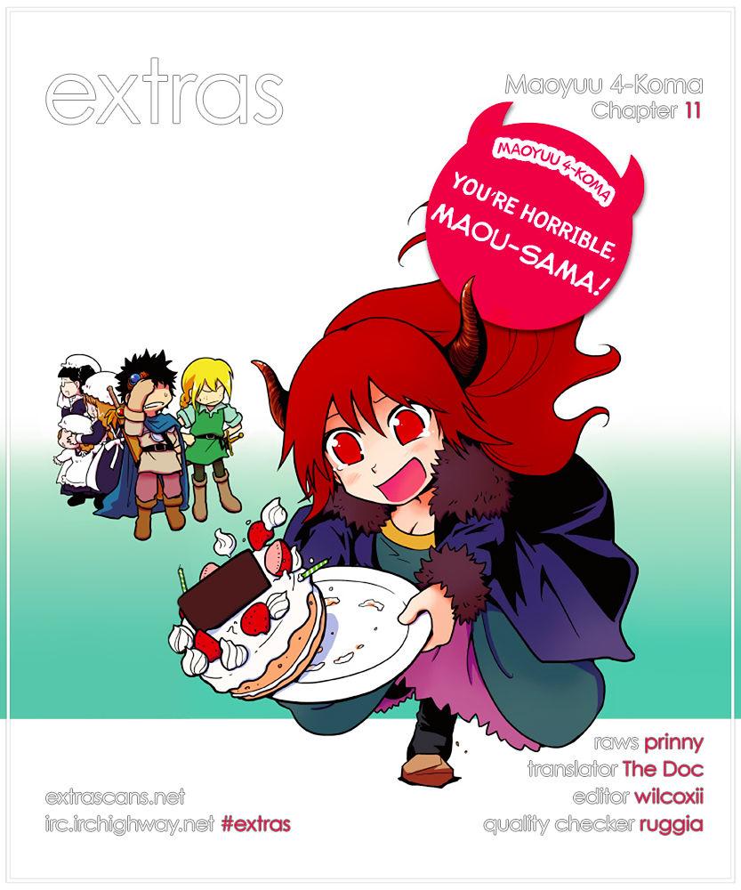 Maoyuu 4-Koma: You're Horrible, Maou-sama! 11 Page 1
