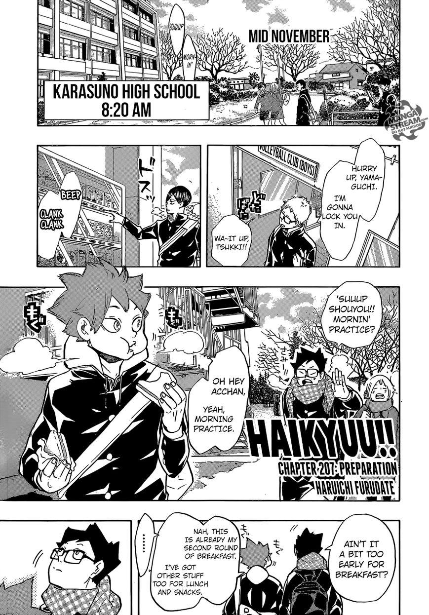 Haikyu!! 207 Page 1