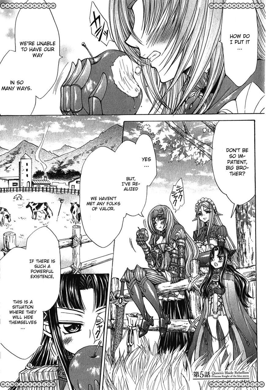 Queen's Blade Rebellion - Aoarashi no Hime Kishi 5 Page 1