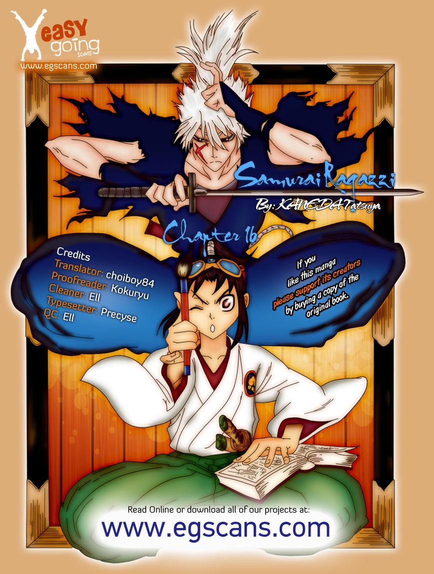 Samurai Ragazzi - Sengoku Shounen Seihou Kenbunroku 16 Page 1