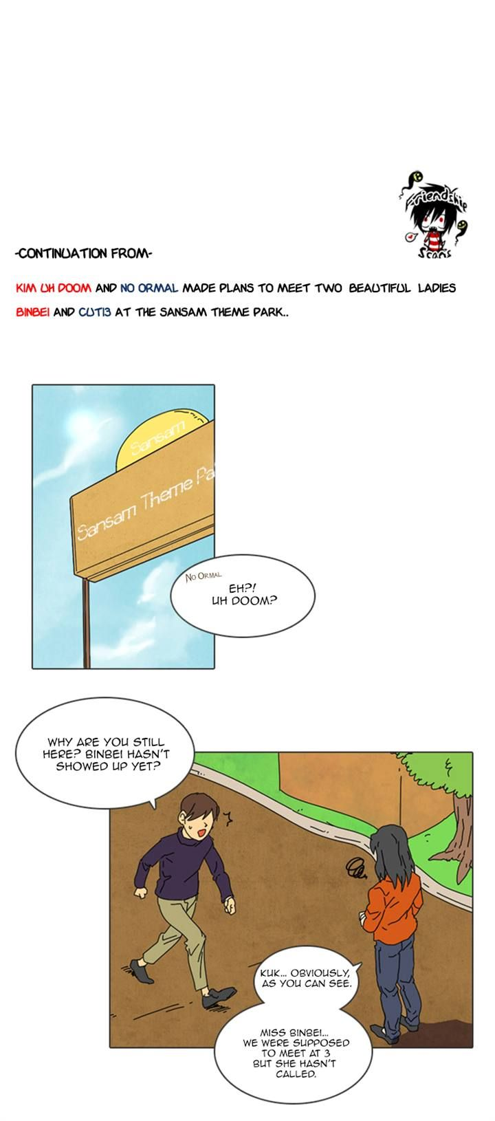 Immature Earthling Friend 22 Page 1