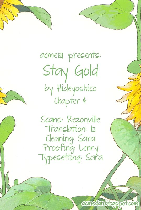 Stay Gold (Hideyoshico) 4 Page 1