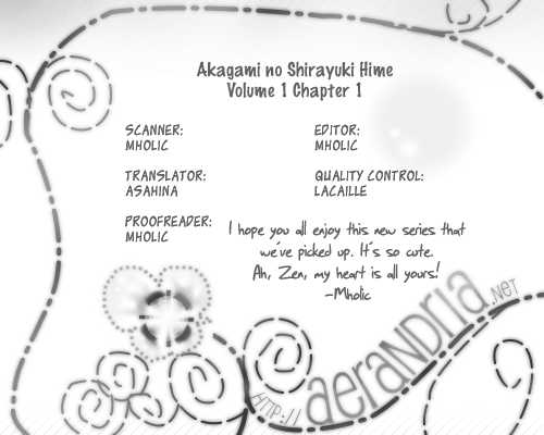Akagami no Shirayukihime 1 Page 1