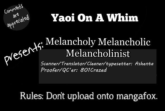Melancholy Melancholic Melancholinist 1 Page 1