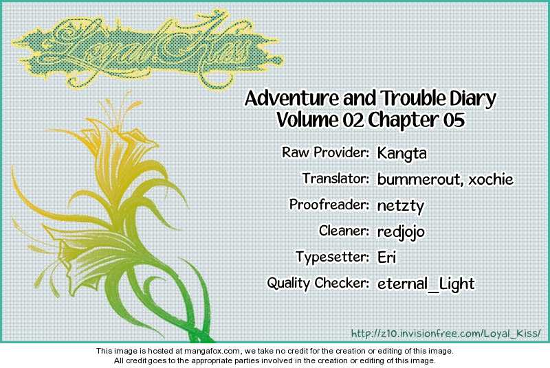 Adventure and Trouble Diary 5 Page 1