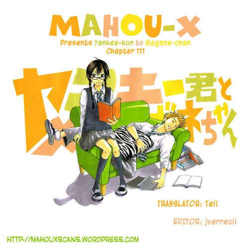 Yankee-kun to Megane-chan 111 Page 1