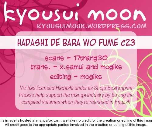 Hadashi de Bara wo Fume 23 Page 1
