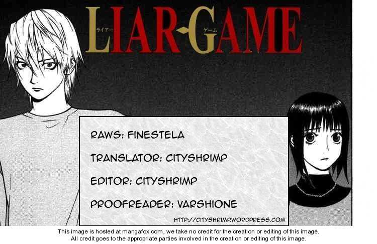 Liar Game 91 Page 1