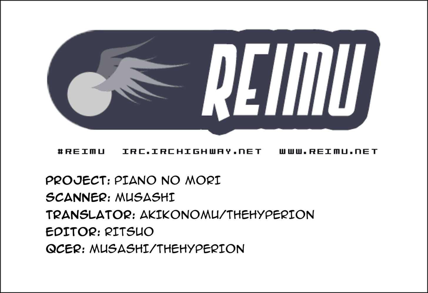 Piano no Mori 2 Page 1