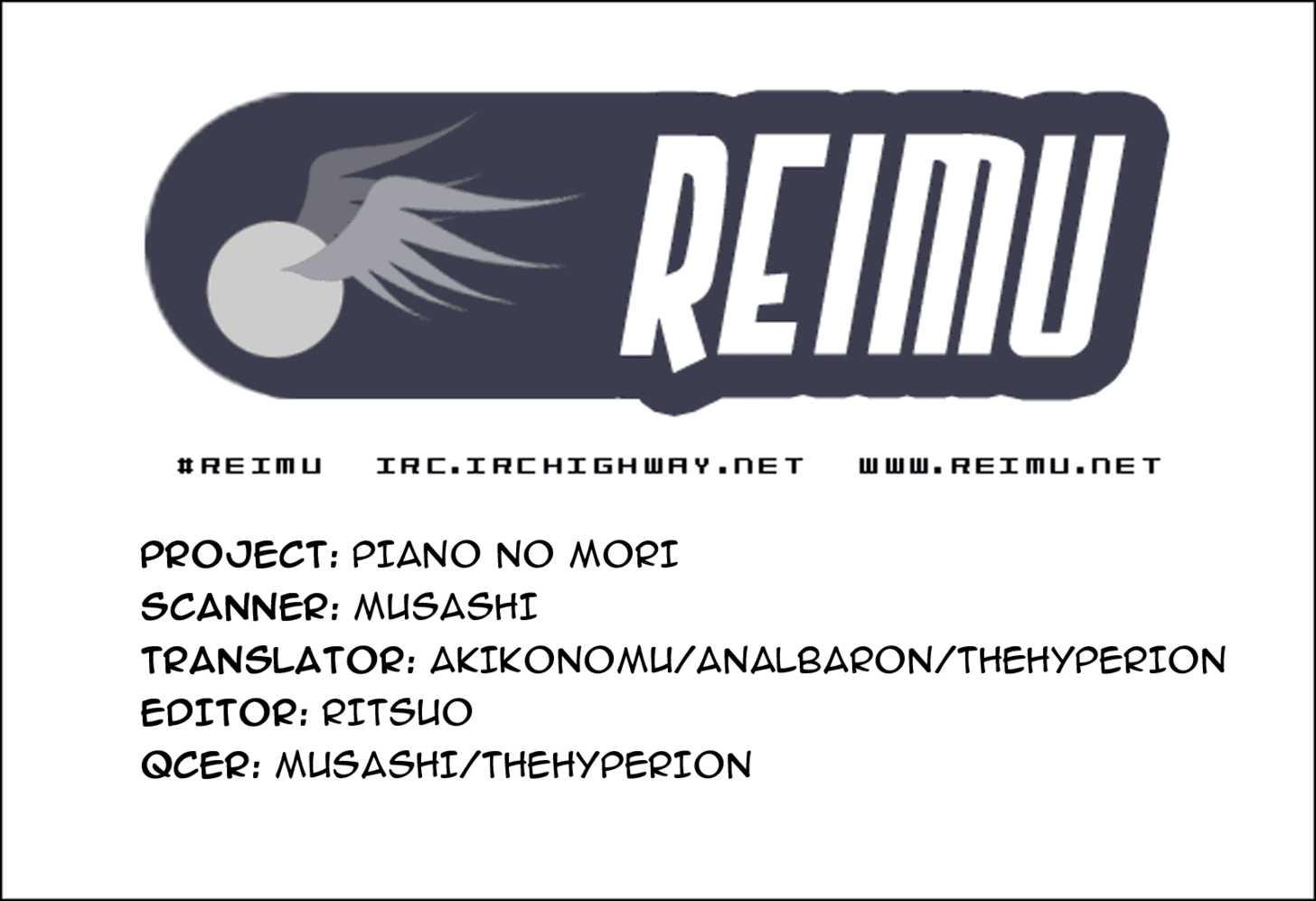 Piano no Mori 3 Page 1