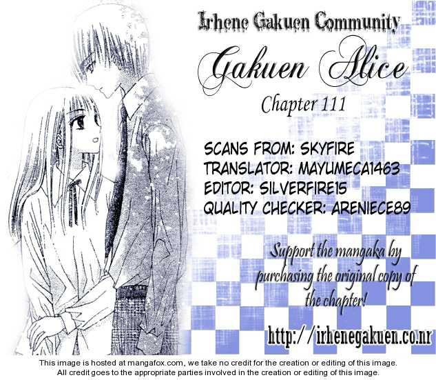 Gakuen Alice 111 Page 1
