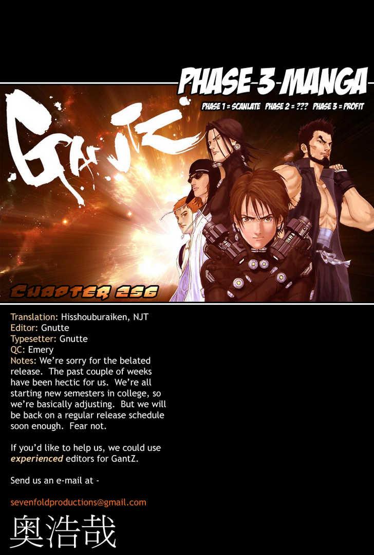 Gantz 256 Page 1