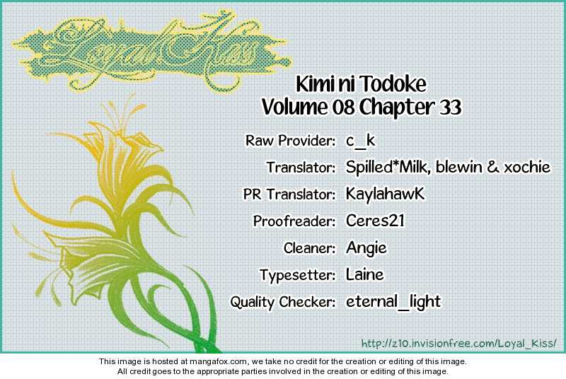 Kimi ni Todoke 33 Page 1
