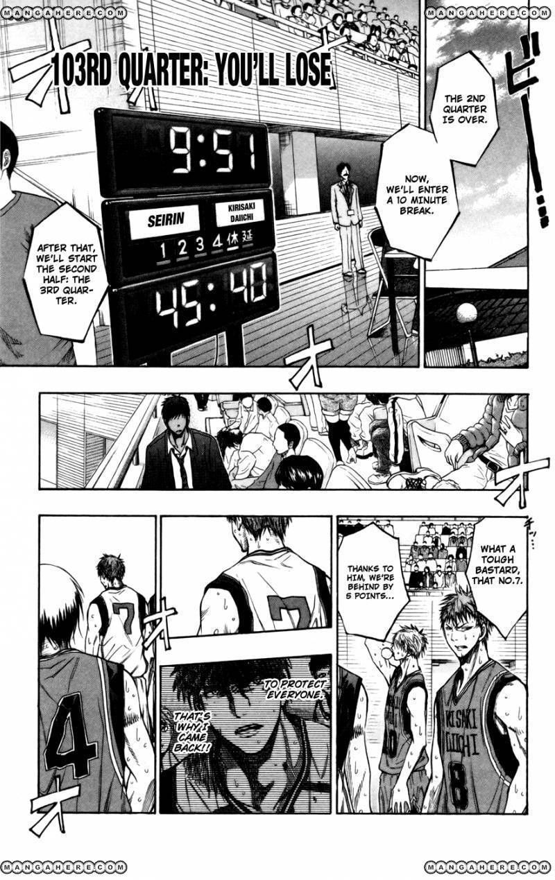 Kuroko no Basket 103 Page 1