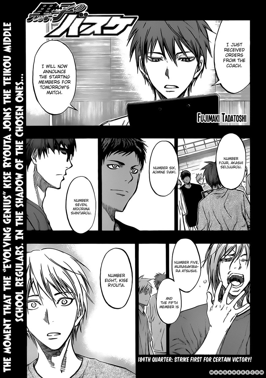 Kuroko no Basket 184 Page 1