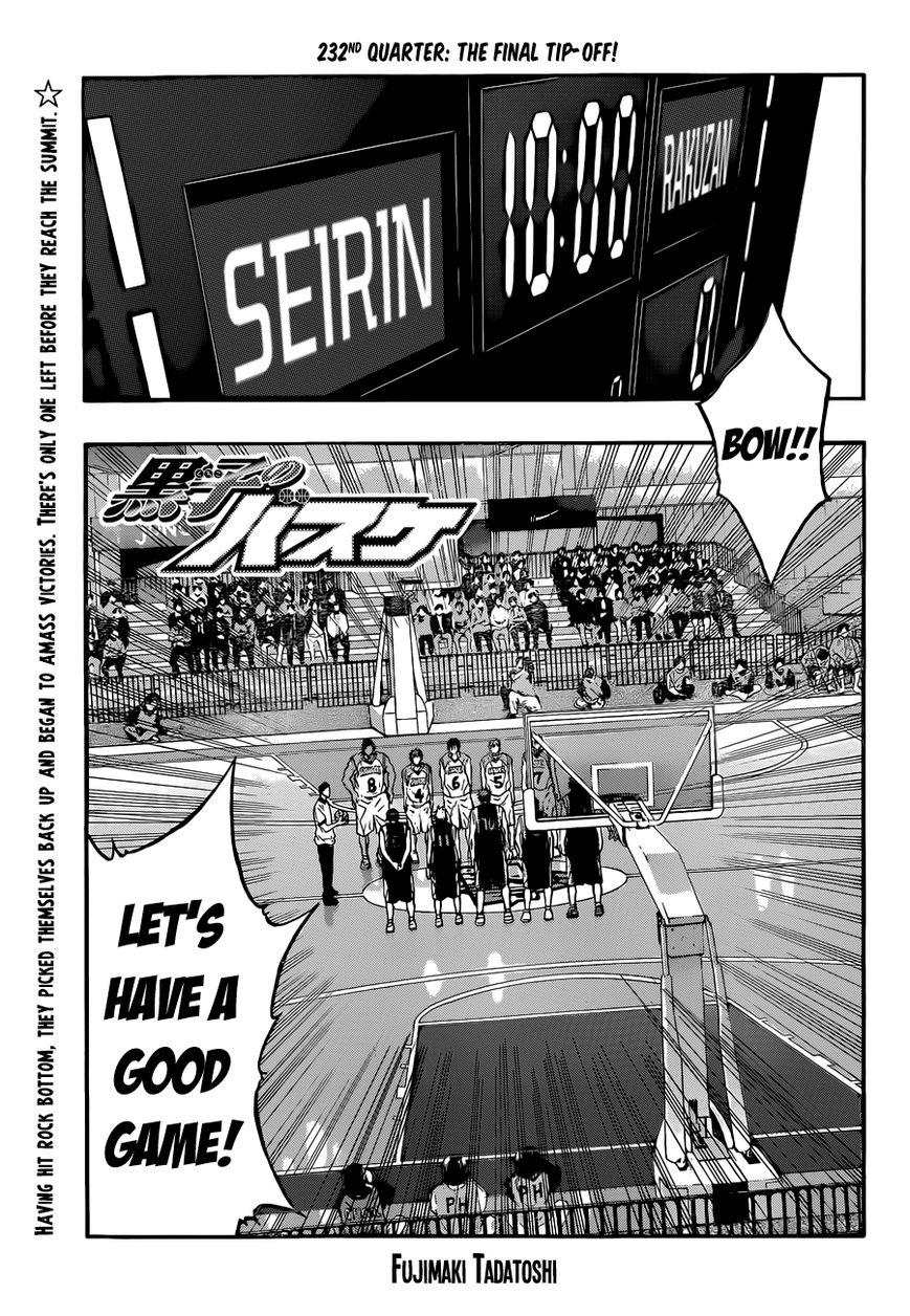 Kuroko no Basket 232 Page 1