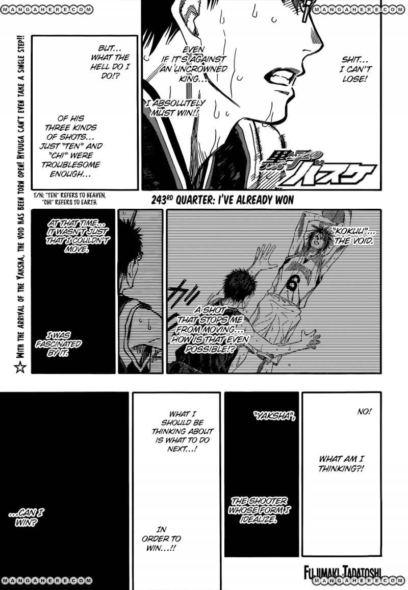 Kuroko no Basket 243 Page 1