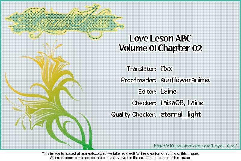 Love Lesson ABC 2 Page 1
