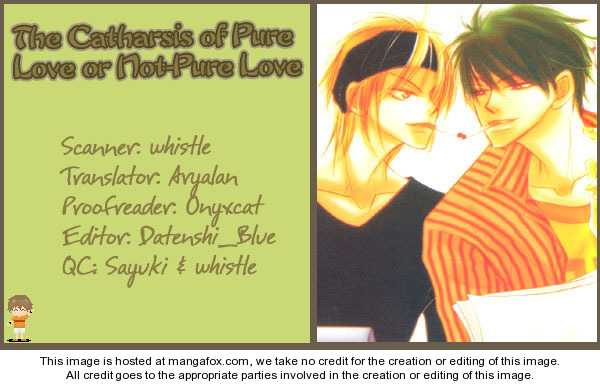 The Catharsis of Pure Love Or Not-Pure Love 1 Page 1