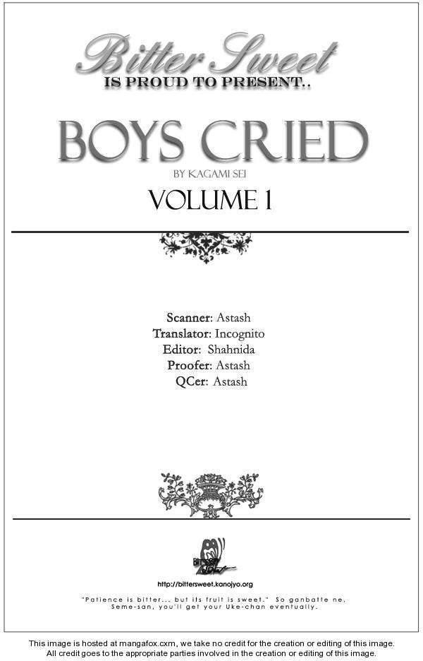 Boys Cried 1 Page 1