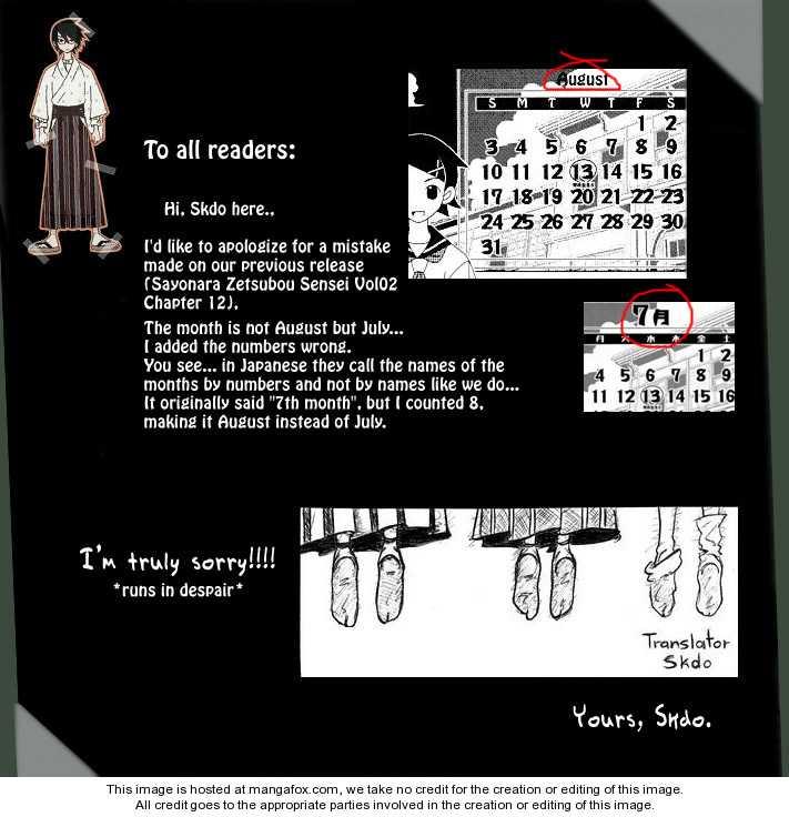 Sayonara Zetsubou Sensei 21 Page 1