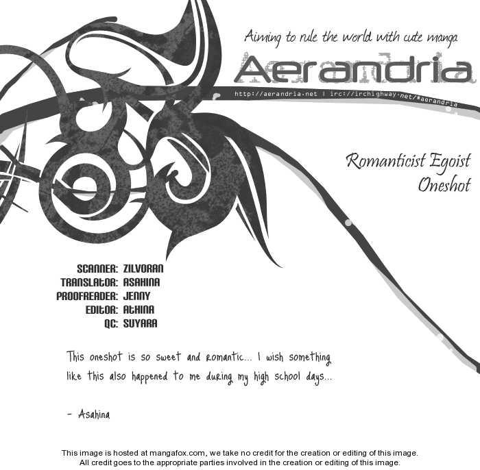 Romanticist Egoist 1 Page 2