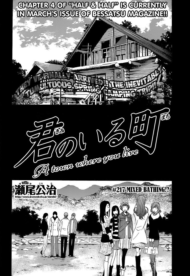 Kimi no Iru Machi 217 Page 3