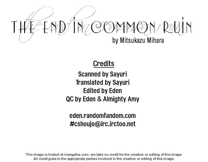 The End in Common Ruin 1 Page 2