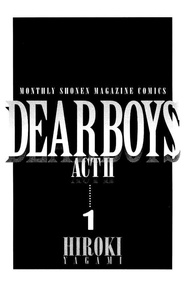 Dear Boys Act II 1.1 Page 1