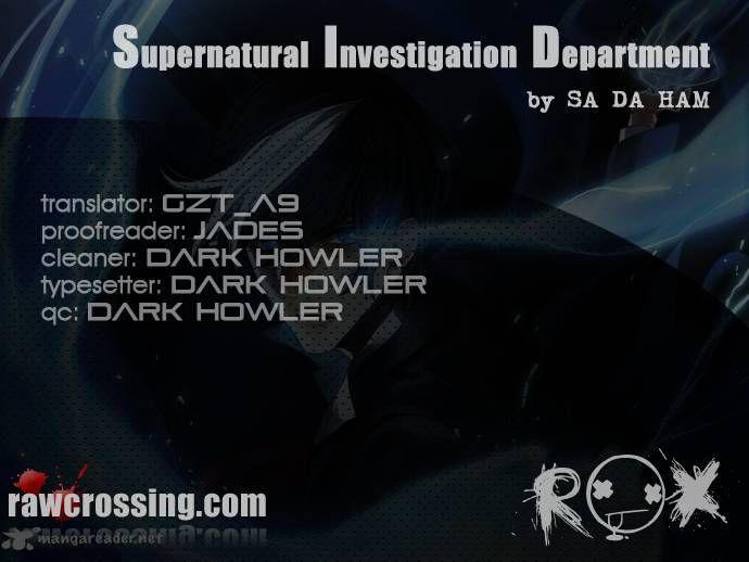 Supernatural Investigation Department 60 Page 1