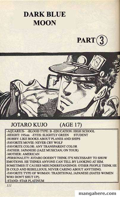 JoJo's Bizarre Adventure Part 3: Stardust Crusaders 15 Page 1