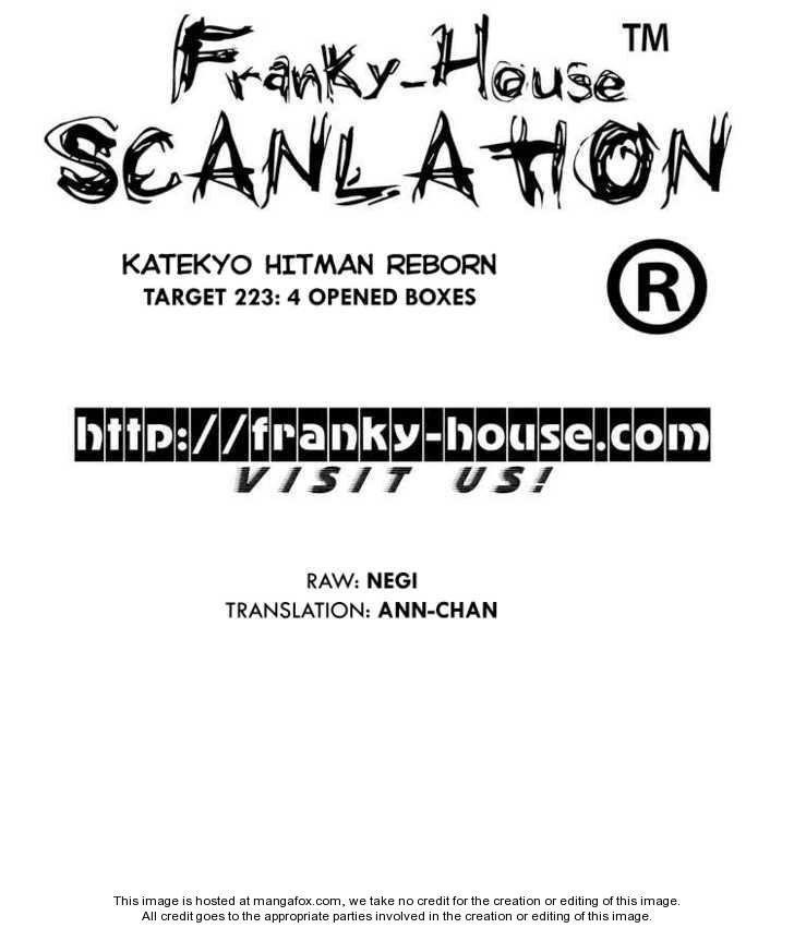 Katekyo Hitman Reborn 223 Page 1