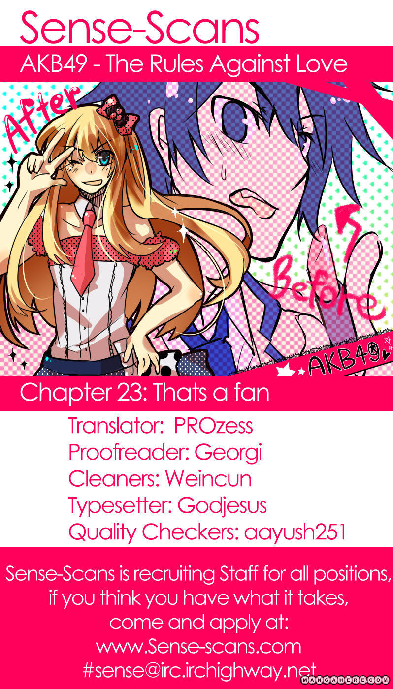 AKB49 Renai Kinshi Jourei 23 Page 1