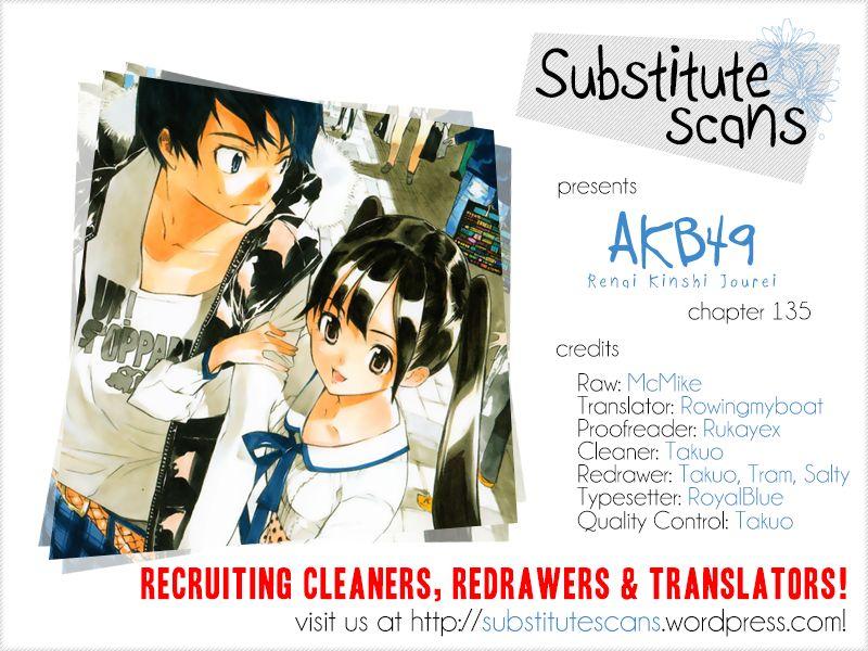 AKB49 Renai Kinshi Jourei 135 Page 1
