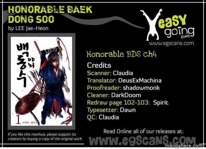 Honorable Baek Dong Soo 4 Page 1