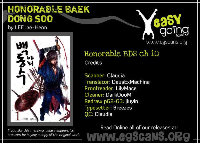 Honorable Baek Dong Soo 10 Page 1