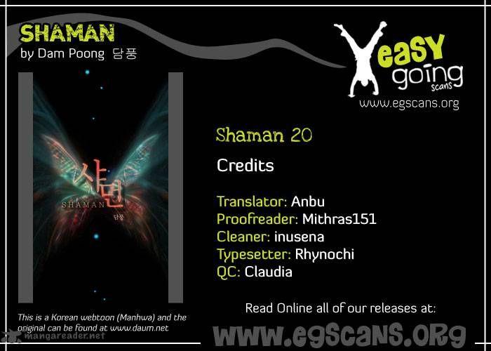 Shaman 20 Page 1